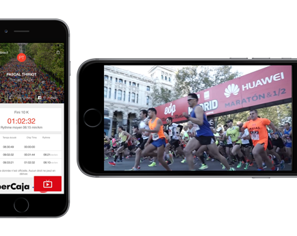 First major city marathon using in-app live video