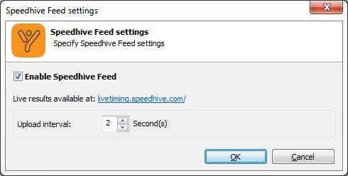 Speedhive feed settings