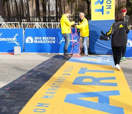 Follow the action of the iconic Boston Marathon