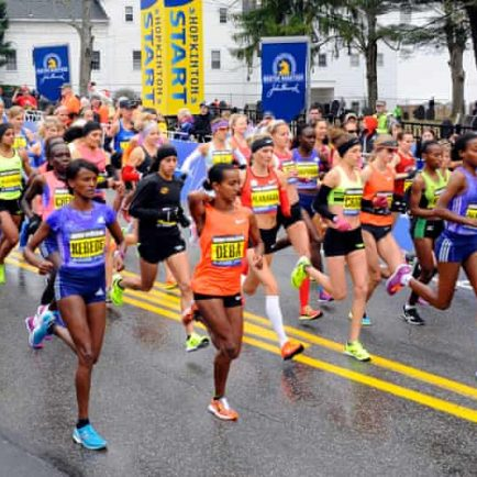The streets of Chicago & Boston filled with racers